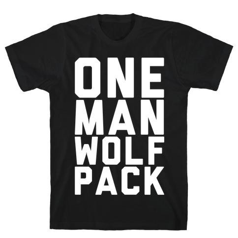 One Man Wolf Pack Mens T-Shirt