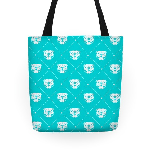 Pit Bull Love Pattern Tote