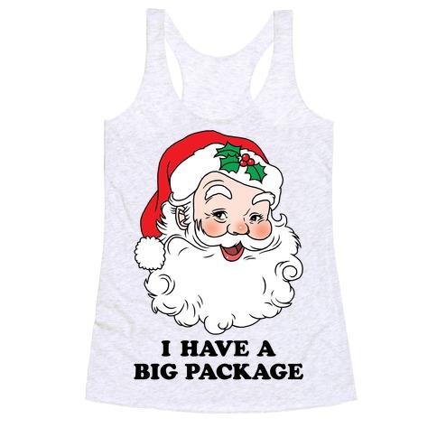 Santa's Package Racerback Tank Top
