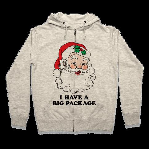 Santa's Package Zip Hoodie