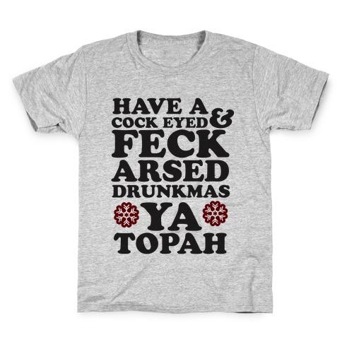 Feckarsed Drunkmas Kids T-Shirt