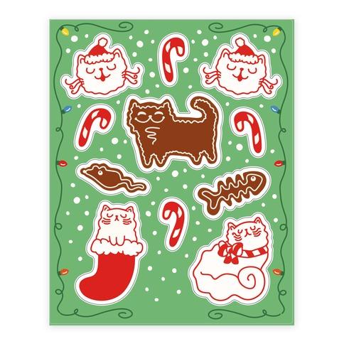 Meowy Christmas.Meowy Christmas Sticker Lookhuman