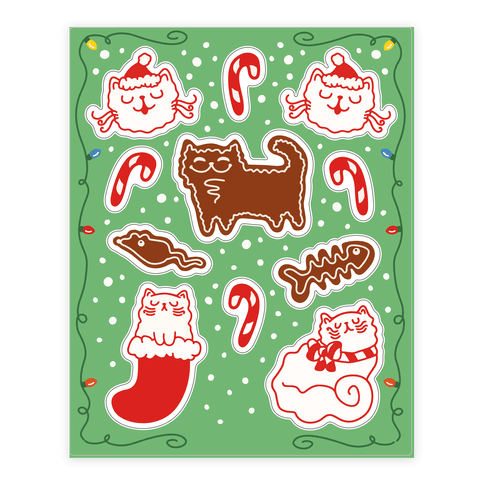 Meowy Christmas  Sticker/Decal Sheet
