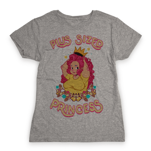 Plus Sized Princess Womens T-Shirt