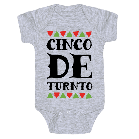 Cinco De Turnto Baby Onesy