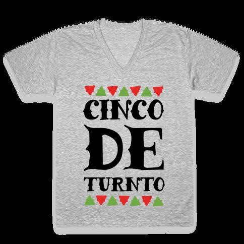Cinco De Turnto V-Neck Tee Shirt