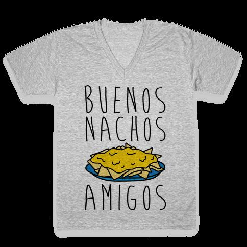 Buenos Nachos Amigos V-Neck Tee Shirt
