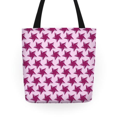 Pink Star Pattern Tote