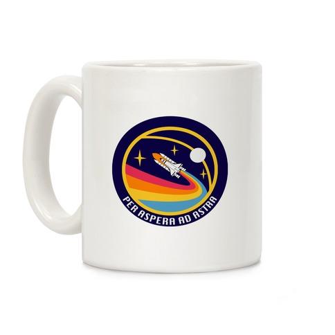 Per Aspera Ad Astra Vintage Logo Coffee Mug