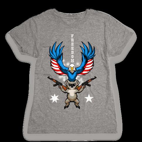 Ameristralia: TASTE THE FREEDOM (Text) Womens T-Shirt