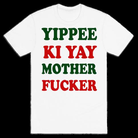 Yippee Ki Yay Mother F***er (baseball) Mens T-Shirt