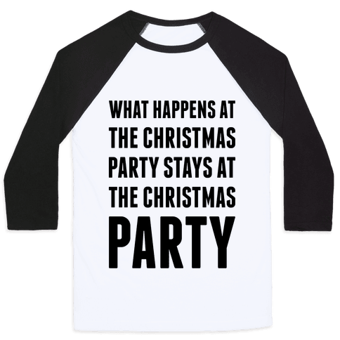 Christmas Party Baseball Tee