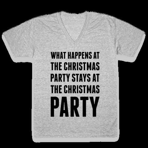Christmas Party V-Neck Tee Shirt