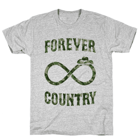 Forever Country (camo) Mens T-Shirt