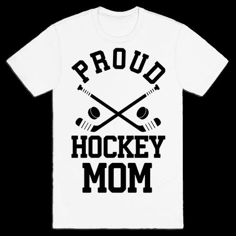 Proud Hockey Mom Mens T-Shirt