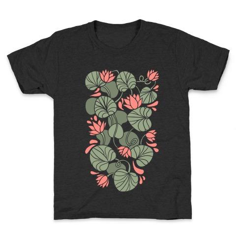 Art Nouveau Water Lilies Kids T-Shirt