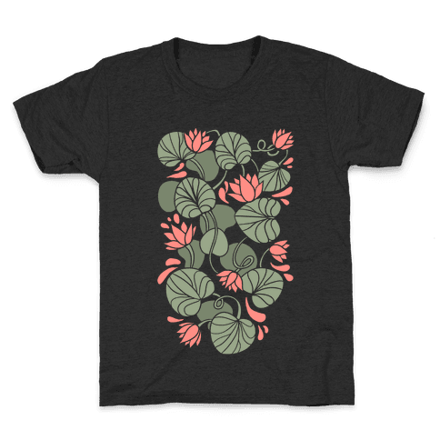 Art Nouveau Water Lilies Kids T-Shirt