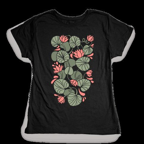 Art Nouveau Water Lilies Womens T-Shirt