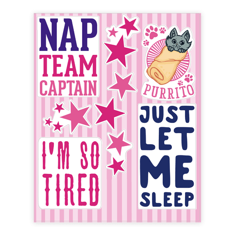 Sleepy  Sticker/Decal Sheet