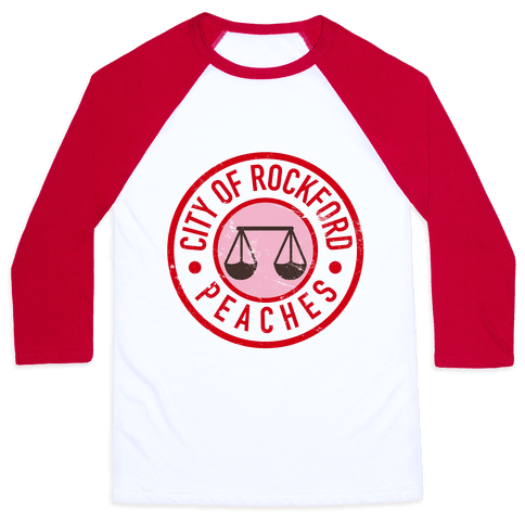 City Of Rockford Peaches Baseball Tee