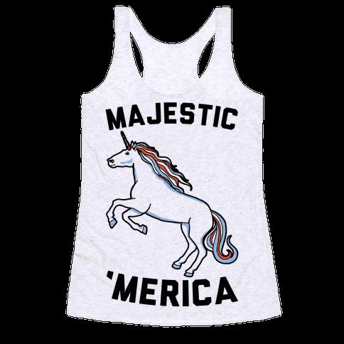 Majestic 'Merica Racerback Tank Top