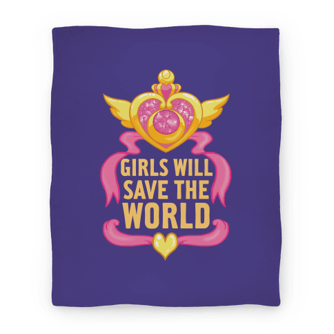 Girls Will Save The World Blanket
