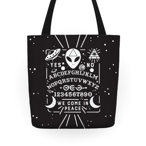Occult Alien Ouija Board Tote