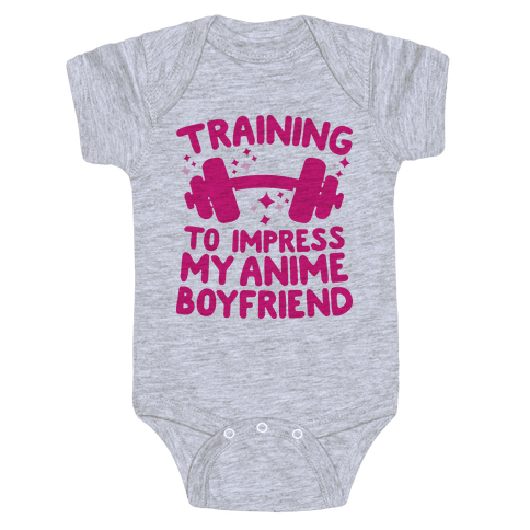 Training to Impress My Anime Boyfriend Baby Onesy