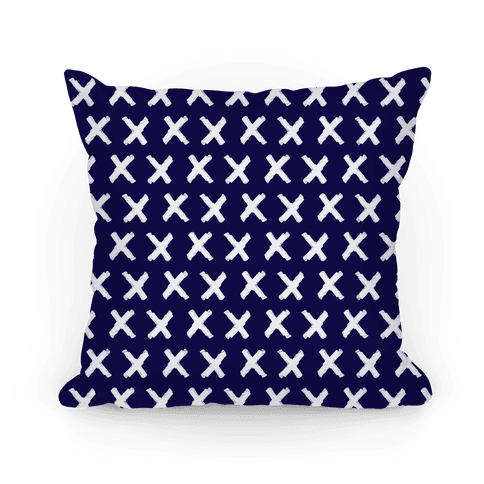 Navy Criss Cross Pattern Pillow