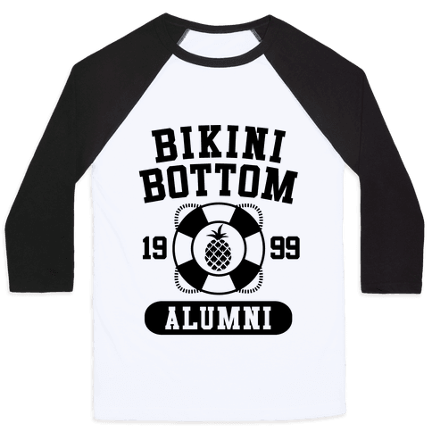 Bikini Bottom Alumni Baseball Tee