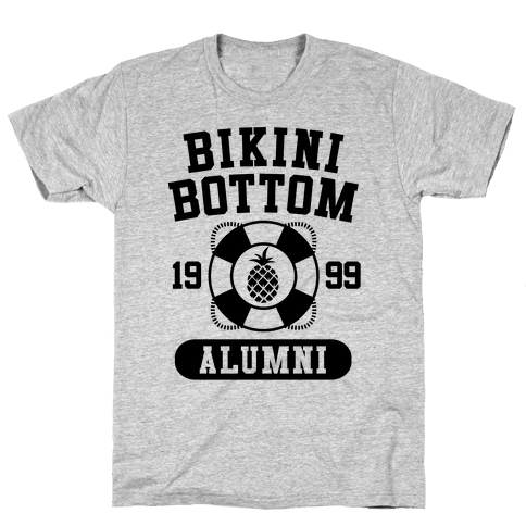 Bikini Bottom Alumni Mens T-Shirt