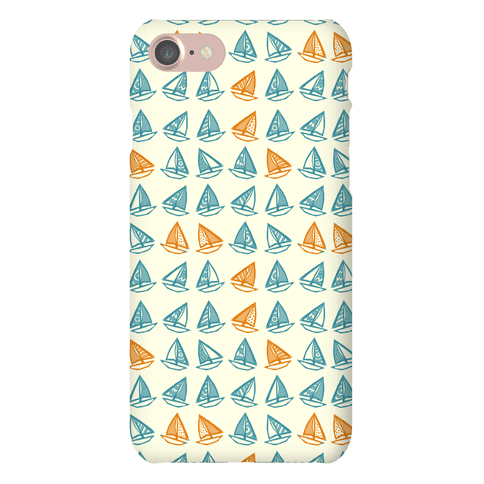 Little Sailboats Pattern Phone Case