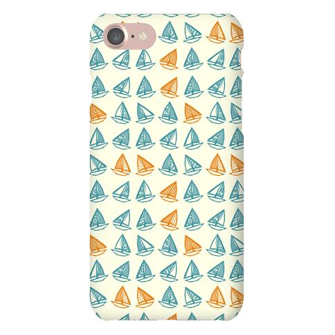 Little Sailboats Pattern Phone Case