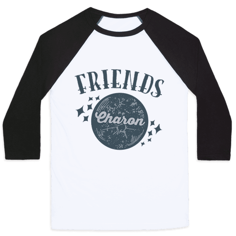 Best Friends Pluto & Charon (Charon Half) Baseball Tee