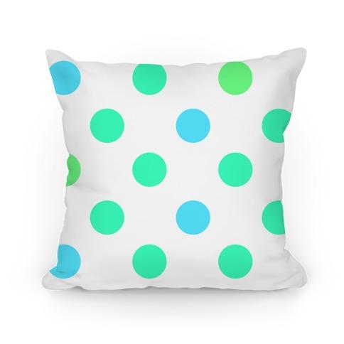 Big Polka Dot Pillow (mint) Pillow