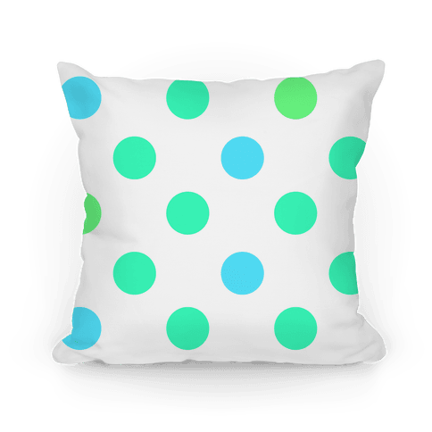Big Polka Dot Pillow (mint) Pillow