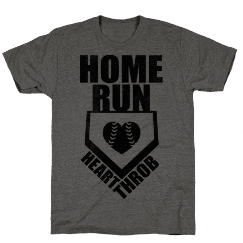 Home Run Heart Throb (Baseball Tee) Mens T-Shirt