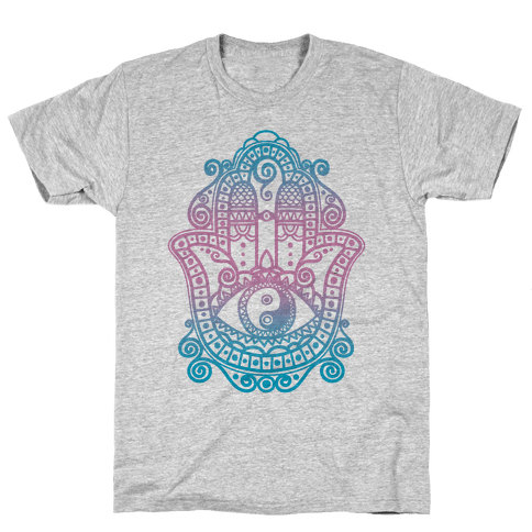 Peaceful Hamsa Hand Mens T-Shirt
