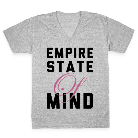 Empire State Of Mind V-Neck Tee Shirt
