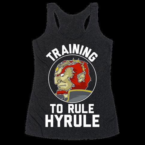 Training To Rule Hyrule Racerback Tank Top
