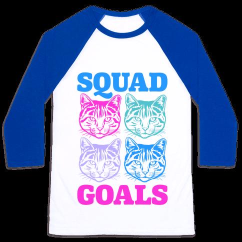 Cat Squad Goals Baseball Tee