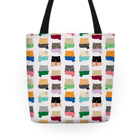 Cats In Scarfs Pattern Tote