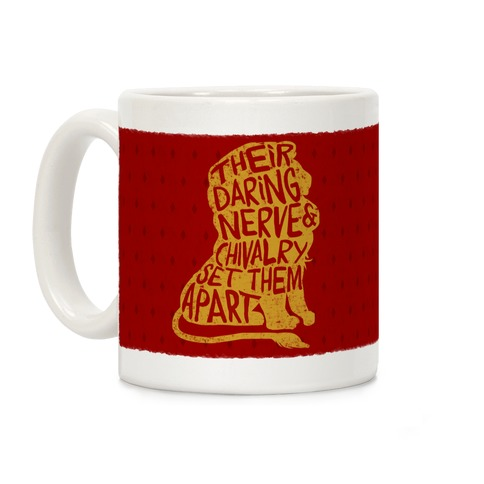Their Daring Nerve And Chivalry Set Them Apart (Gryffindor) Coffee Mug