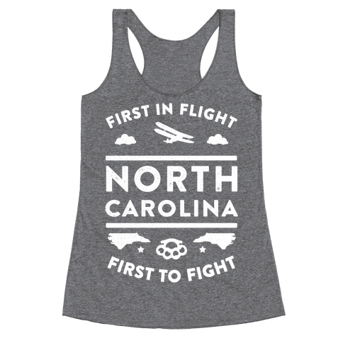 North Carolina Fight and Flight Racerback Tank Top