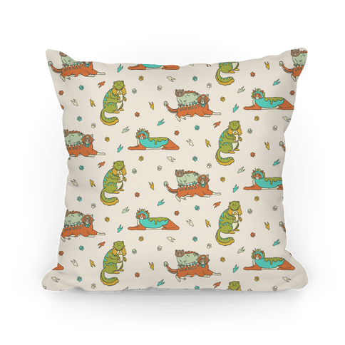 Cats Wearing Dinosaur Costumes Pillow
