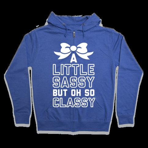 Little Sassy Zip Hoodie