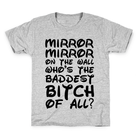 Mirror Mirror On the Wall Kids T-Shirt