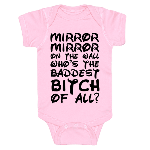 Mirror Mirror On the Wall Baby Onesy