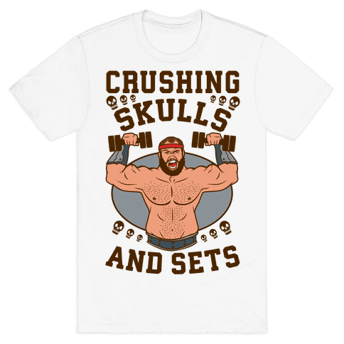 Crushing Skulls and Sets Mens T-Shirt