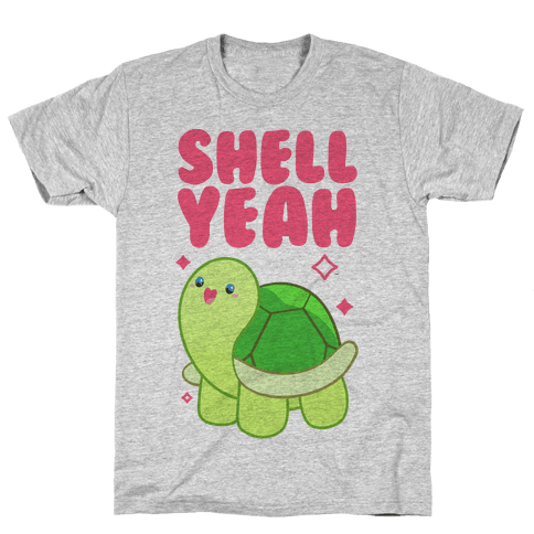Shell Yeah Cute Turtle Mens T-Shirt